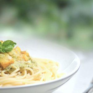Easy Creamy avocado pasta chi school recipe